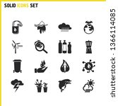 ecology icons set with plastic...
