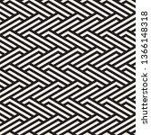 vector seamless lattice pattern.... | Shutterstock .eps vector #1366148318