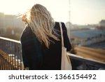 long blond hair girl in sun...   Shutterstock . vector #1366154492
