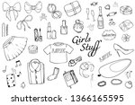 set of hand drawn templates... | Shutterstock .eps vector #1366165595