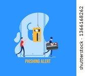 concept of hacker attack  fraud ... | Shutterstock .eps vector #1366168262