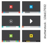 set of media players for... | Shutterstock .eps vector #136617032