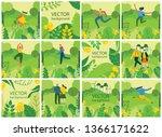 vector nature eco backgrounds... | Shutterstock .eps vector #1366171622