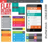 flat web design  elements ... | Shutterstock .eps vector #136618388