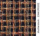 tartan seamless grunge pattern... | Shutterstock .eps vector #1366190102