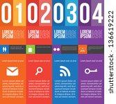 four steps for infographics... | Shutterstock .eps vector #136619222