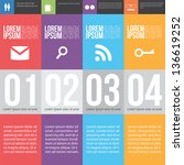 four steps for infographics... | Shutterstock .eps vector #136619252