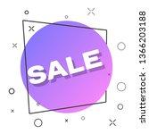 geometric flat sale banner.... | Shutterstock .eps vector #1366203188