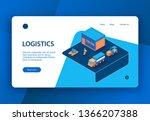isometric logistics concept...