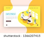 employment isometric landing... | Shutterstock .eps vector #1366207415