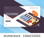 fish superfood landing page for ...   Shutterstock .eps vector #1366210202