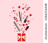 cosmetics and fashion... | Shutterstock .eps vector #1366216448
