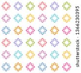 abstract multicolored floral... | Shutterstock .eps vector #1366230395