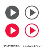 play button icon. vector... | Shutterstock .eps vector #1366231712