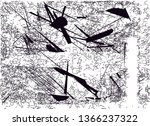 distressed background in black... | Shutterstock . vector #1366237322