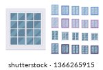 window for building fitted with ... | Shutterstock .eps vector #1366265915