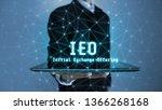 3d rendering of ieo text ... | Shutterstock . vector #1366268168
