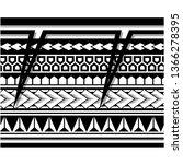 polynesian tattoo sleeve... | Shutterstock .eps vector #1366278395