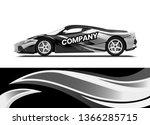 car decal wrap design template... | Shutterstock .eps vector #1366285715