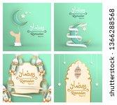 bundle template for ramadan...   Shutterstock .eps vector #1366288568