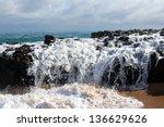 Indian Ocean Waves Breaking On...