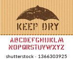 keep dry vector stamp on cargo... | Shutterstock .eps vector #1366303925