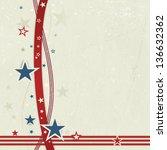 us american flag themed... | Shutterstock . vector #136632362
