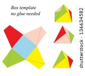 colorful pyramid box template ... | Shutterstock .eps vector #136634582