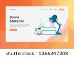 web page header online... | Shutterstock .eps vector #1366347308