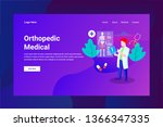 web page header orthopedic... | Shutterstock .eps vector #1366347335