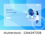 web page header medical... | Shutterstock .eps vector #1366347338