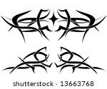 patterns of tribal tattoo for... | Shutterstock .eps vector #13663768