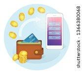 online money transfer... | Shutterstock .eps vector #1366380068