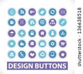 design circle website buttons ... | Shutterstock .eps vector #136638518
