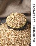 croup green buckwheat on a dark ... | Shutterstock . vector #1366398068