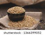 croup green buckwheat on a dark ... | Shutterstock . vector #1366399052