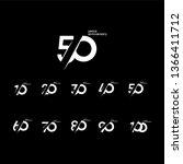 50 years anniversary set 10 20... | Shutterstock .eps vector #1366411712