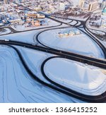 aerial shot of road and cars... | Shutterstock . vector #1366415252