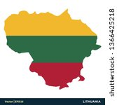 lithuania   europe countries...   Shutterstock .eps vector #1366425218
