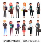 businesspeople in elegant... | Shutterstock . vector #1366427318