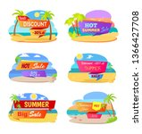 hot summer sale promotional... | Shutterstock . vector #1366427708
