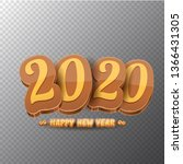2020 happy new year creative... | Shutterstock .eps vector #1366431305