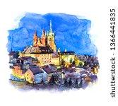 Watercolor Sketch Of Prague...