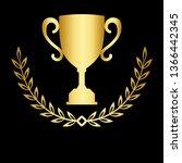 icon laurel wreath   vector...   Shutterstock .eps vector #1366442345
