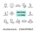 employees icons. line icons... | Shutterstock .eps vector #1366450865