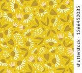 floral surface pattern design.... | Shutterstock .eps vector #1366452035
