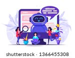concept chatbot and future...   Shutterstock .eps vector #1366455308