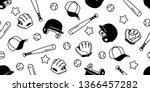 baseball seamless pattern... | Shutterstock .eps vector #1366457282