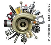 vector car parts with... | Shutterstock .eps vector #1366460792