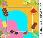 summer super sale banner with... | Shutterstock .eps vector #1366475162